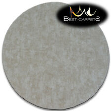"""Modern original CARPETS Round """"POZZOLANA"""" beige thick durable Best Quality Rugs"""