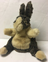 "Folkmanis Baby Dutch Rabbit Hand Puppet Plush Stuffed Animal 11"" Soft Realistic"