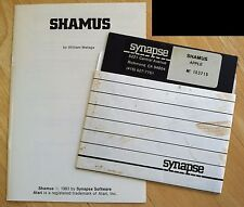 Shamus computer game Synapse Software 5.25 disk for Apple II+,IIe,c,IIgs 1983
