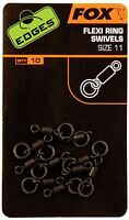 NEW Fox Edges Flexi Ring Swivels - Size 11 CAC609