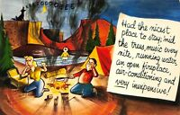 Family Camping Funny VTG Postcard Unposted Made in USA