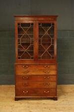 19th Century Regency Mahogany Library Glazed Secretaire Bookcase