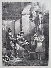 LESCOT, Antoinette — L'Aqua Santa — 1818 —Lithographie originale avant la lettre