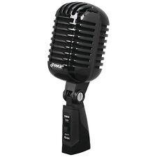 PYLE PDMICR42BK Classic Retro Vintage Style Dynamic Vocal Microphone (Black)
