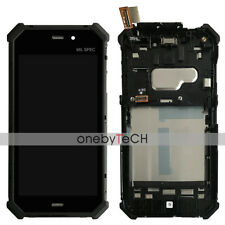 "New 4.7"" Black Touch Screen Lcd Display Assembly Frame For CATERPILLAR CAT S50"