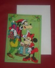 Goofy and Minnie Mouse Walt Disney Christmas Card 1950 Collectible Vintage Rare