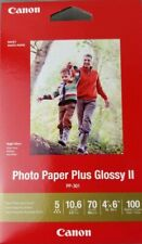 Canon Photo Paper Plus Glossy II PP 301 Box of 100 Sheets 4X6 New