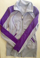 LULULEMON Contempo Jacket  size 4 Power Purple w Cool Breeze Running Gym Yoga
