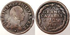 1 GRANO DA 12 CAVALLI 1789 FERDINANDO IV REGNO DI NAPOLI Q.BB A.VF #1678