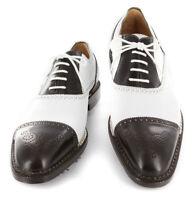 Neuf Sutor Mantellassi Marron Golf Chaussures - Casquette Orteil - 8/7 - (