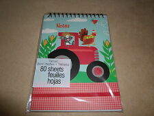 """80 Sheet """"Farm"""" Lined Spiral Tablet By Studio 18, 5"""" X 7"""", BRAND NEW IN PACKAGE!"""