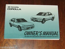 UNUSED Toyota COROLLA 1994 Owner Manual Australia 4A-FE, 7A-FE engines FREE POST
