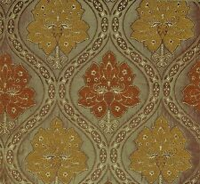 5 Metre  Persia Jacquard Curtain Fabric Orange and Yellow £13.99/Meter