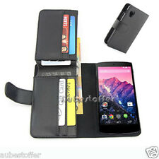 NEW Long Wallet Flip Leather Case Cover For Google Nexus 5