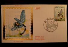 MONACO PREMIER JOUR FDC YVERT  1570      GRANDE AESCHNE     2,20F    1987