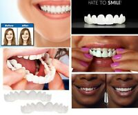 Snap On instant Perfect Smile Upper And Lower False Teeth Flex Teeth Veneers