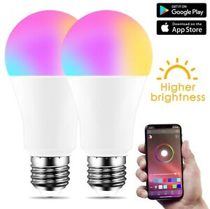 Bluetooth 4.0 Smart Bulb 10W E27 Change Color Dimmable IOS/Android