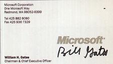 BILL GATES Signed Business Card MICROSOFT US Business Magnate - preprint