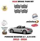 FOR PORSCHE BOXSTER 2.7 3.4 S GTS 2012-> NEW REAR BRAKE DISC PAD SET