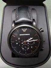 EMPORIO ARMANI Luigi Chronograph Black Dial Men's Watch