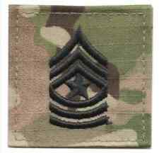 US Army MultiCam Rank E-9 Sergeant Major Hook Fastener Rank Patch