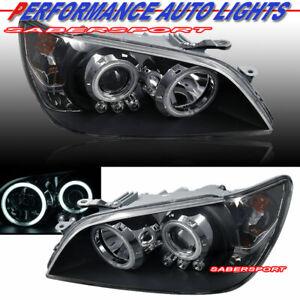 Set of Pair Black Halo Projector Headlights (HID ver.) for 2001-2005 Lexus IS300