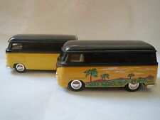 Sunnyside VW BUS Diecast1:32 3VWS7 SS5403 BLACK/YELLOW PALM TREE-NO FRONT BUMPER