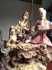 Azzolin Brothers Capodimonte Lamps! Figural Musicians Trio Xlg