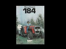 Massey Ferguson Mf184 Tractor Parts Manual 290pgs for Tractor Service and Repair