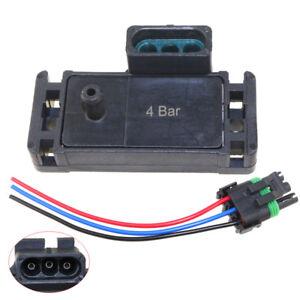 4 Bar Map Sensor Manifold Boost Pressure Turbo For Saab Vauxhall Subaru 12223861