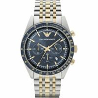 Emporio Armani AR6088 Chronograph Two Tone Stainless Steel Men's Watch