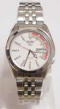 SEIKO 5 SNK369K1 Stainless Steel Band Automatic Men's White Watch 100% New