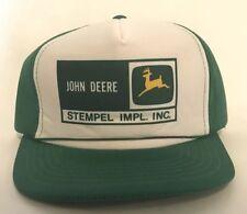 John Deere Snapback Hat VINTAGE Green White Cap YR Brand Stempel Impl Made Korea