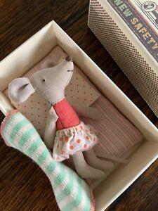 Maileg Mouse Little Sister Matchbox Brand New