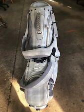 NICE Nike Golf XTREME SPORT IV White STAND BAG Lightweight 8-Way Used
