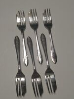 Vintage MS Ltd Silverplate EPNS Sheffield England PASTRY PIE FORK FORKS Set of 6