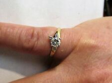 .50 Ctw 14K Diamond Engagement Ring. Yellow Gold. H Color. Si12 Clarity. Sz 6.25