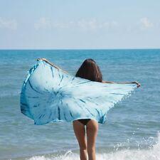 Turquoise Bay Tie-Dye Beach Towel - Cotton Fellas