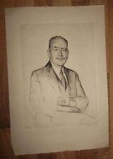 Originale Radierung - Otto Goetze - signiert Kunst Poirtrait