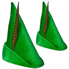 Green Storybook Robin Hood Peter Pan Hat Adults Book Day Mens Ladies Fancy Dress