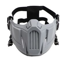 Tactical Airsoft Outdoor Hunting Paintball Half Face Protective Mask Grey