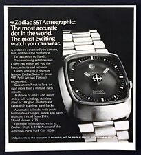 """1973 Zodiac SST Astrographic Watch photo """"Most Accurate Dot"""" vintage print ad"""
