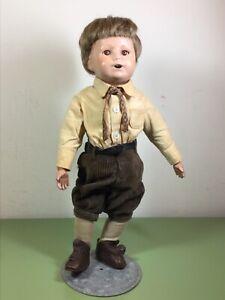 Wigged Schoenhut Boy Doll #14/109   - Open mouth & sleep eyes