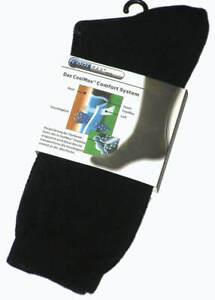 3 PAIRS BRAND NEW MENS SIZE 6-11 BLACK COOLMAX DRESS SOCKS