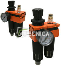 Filtro scaricatore di condensa oliatore + regolatore aria compressa AIRTECH 1/2