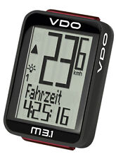 VDO RADIO BICYCLE COMPUTER M3.1 WL 30035 BIKE SPEEDOMETER BIKETACHO TACHO D3