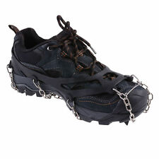 Ice Snow Anti-Slip Spikes Chain Crampons cleats Rubber Shoes Covers Ice Gripper