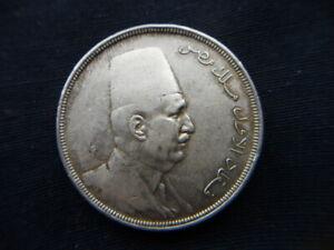 1923 EGYPT silver COIN 20 piastres  XF Fuad I