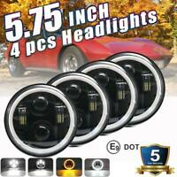4pcs DOT 5.75 5-3/4 Round LED Headlights  Hi-Lo For Chevy Corvette Chevelle