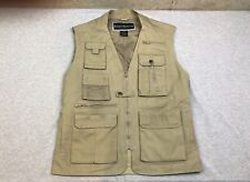 Mens Field & Stream Beige Fishing Travel Vest Medium Cotton